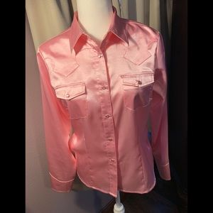 Studio West Small Pink Western Shirt
